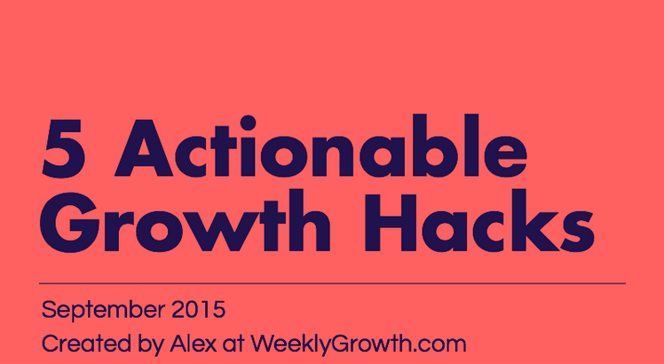 5 Actionable Growth Hacks For B2B SaaS [Infographic]