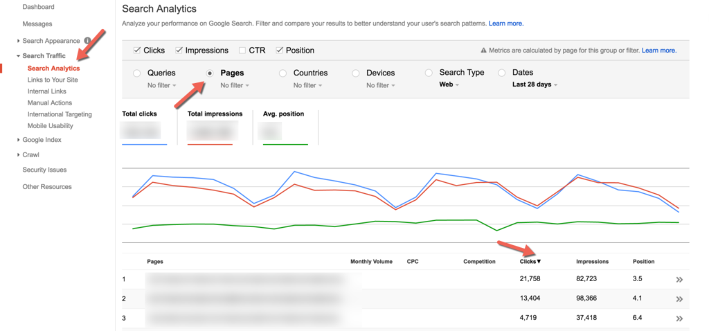 search console google webmaster tools