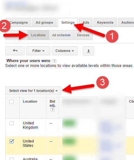 adwords location state targeting reporting